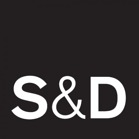 S&D logo white-black